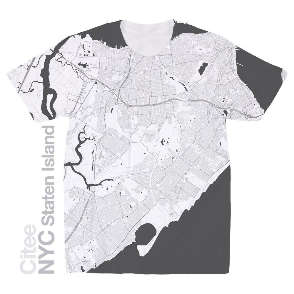 Image of NYC Staten Island map t-shirt