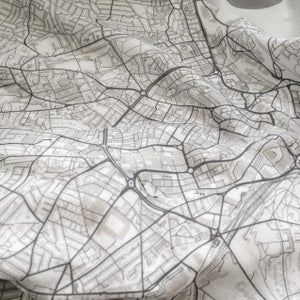 Image of NYC Queens map t-shirt