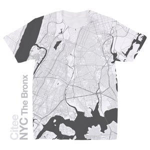 Image of NYC The Bronx map t-shirt