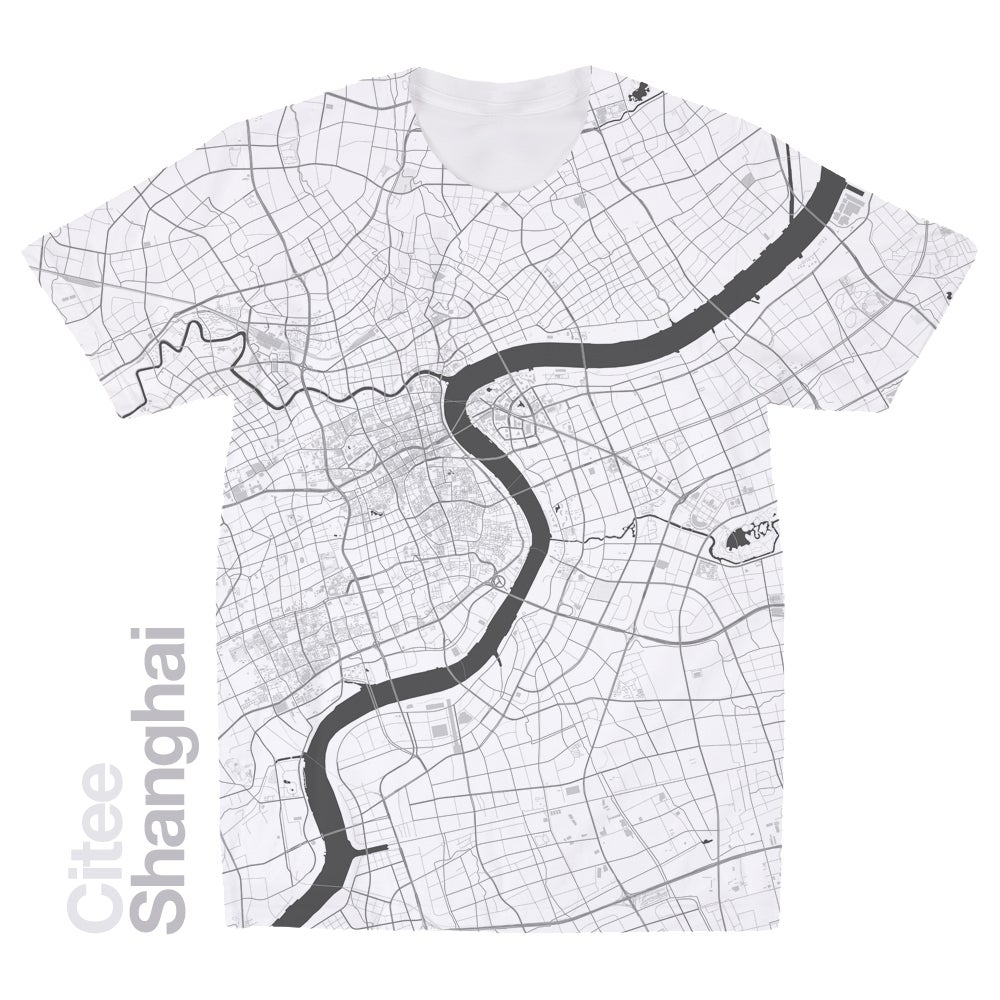 Image of Shanghai map t-shirt