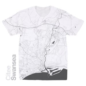 Image of Swansea map t-shirt