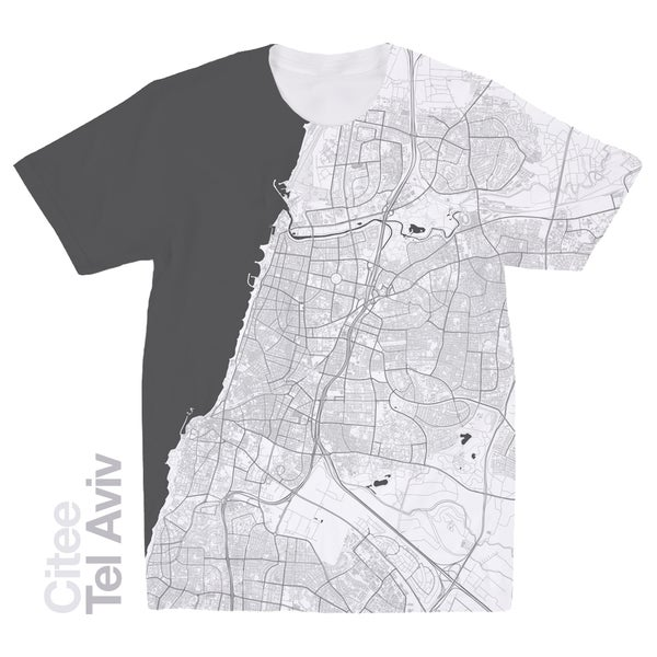 Image of Tel Aviv map t-shirt