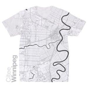 Image of Winnipeg map t-shirt