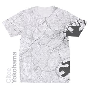 Image of Yokohama map t-shirt