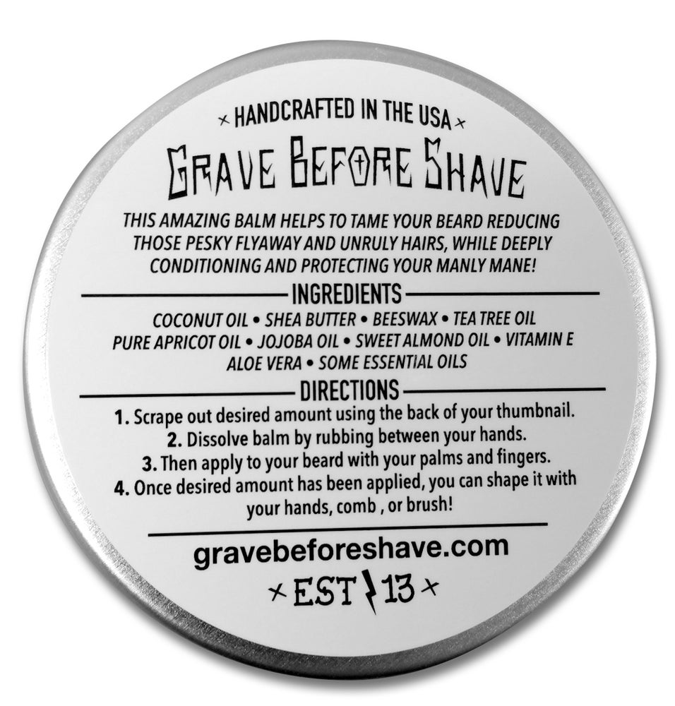 Image of GRAVE BEFORE SHAVE Pine Scent Beard Balm