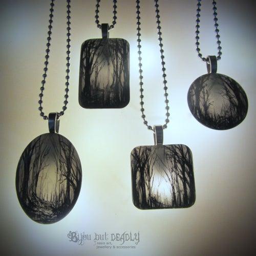 Image of Gloomy Wood Resin Pendant