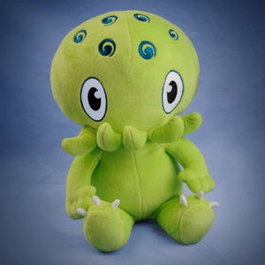 Image of Green Cthulhu plush