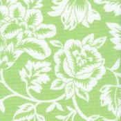 Image of FF Lime Green and White Floral Outdoor Fabric