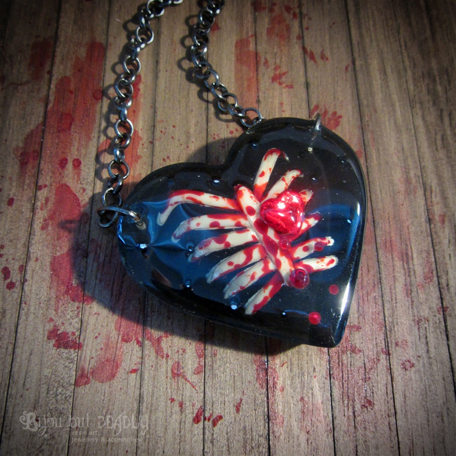 Image of Bloody Ribs Heart Pendant