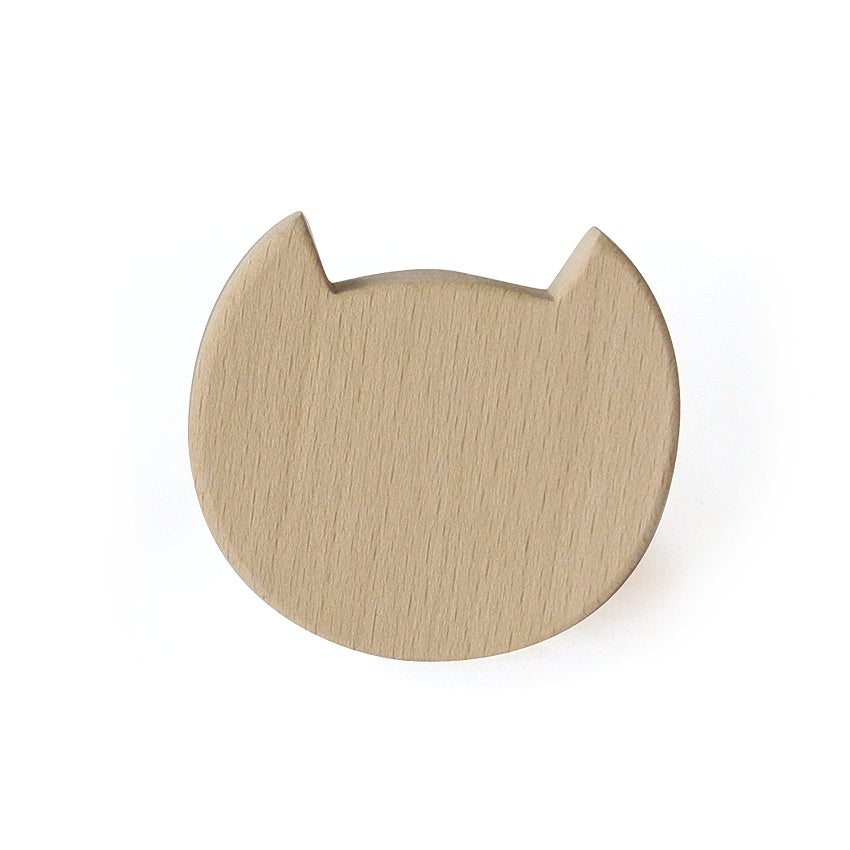 Image of Patère Chat en bois de hêtre