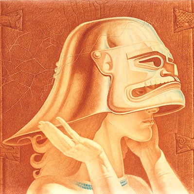 Image of Stanislav Szukalski: The Ancestral Helmet Print