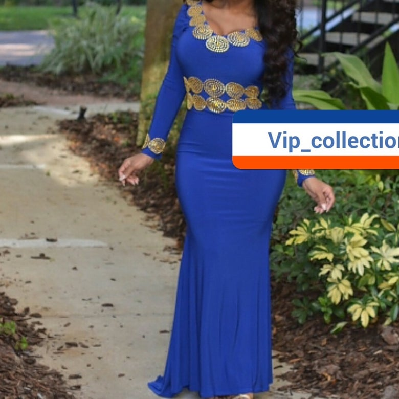 Image of Blue Kaftan dress
