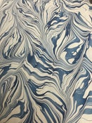Image of Delft blue abstract spanish ripple on white base paper