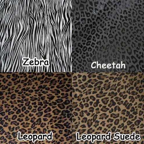 """Image of EXOTIC ANIMAL PRINT Leather Straps .75"""" (inch) Wide - Your Choice of Length, Color & Hardware #17B"""