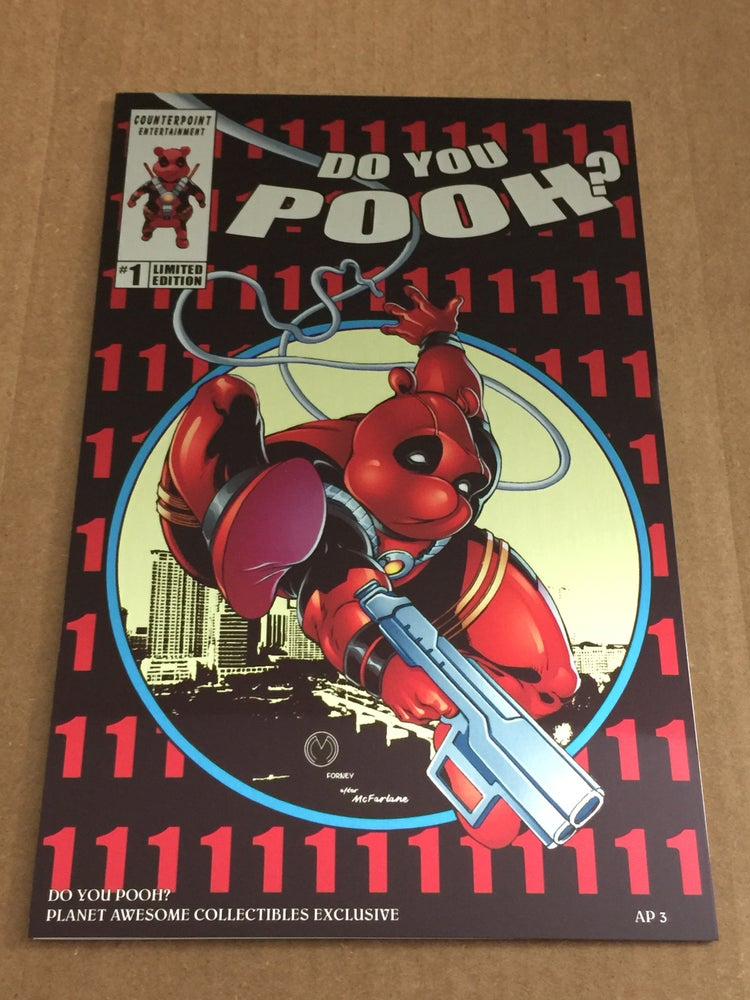 Image of Do You Pooh? #1 Amazing Spider-Man 300 Homage Metal Edition Variant by Marat Mychaels (Artist Proof)