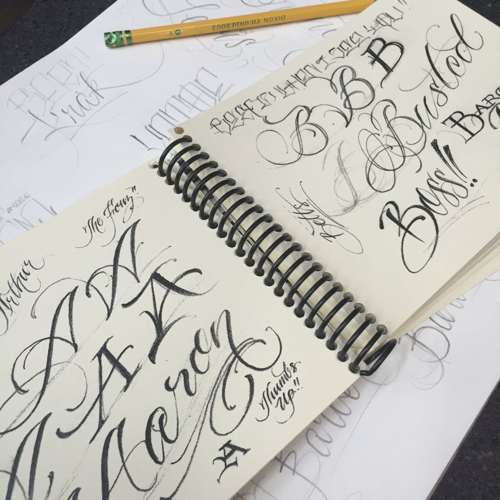 Image of Traveling Lettering Guide