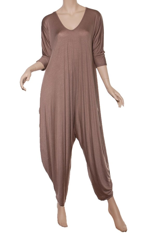 Image of Tan oversized jumpsuit