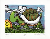 Image of Happy Turtle Print **FREE SHIPPING**