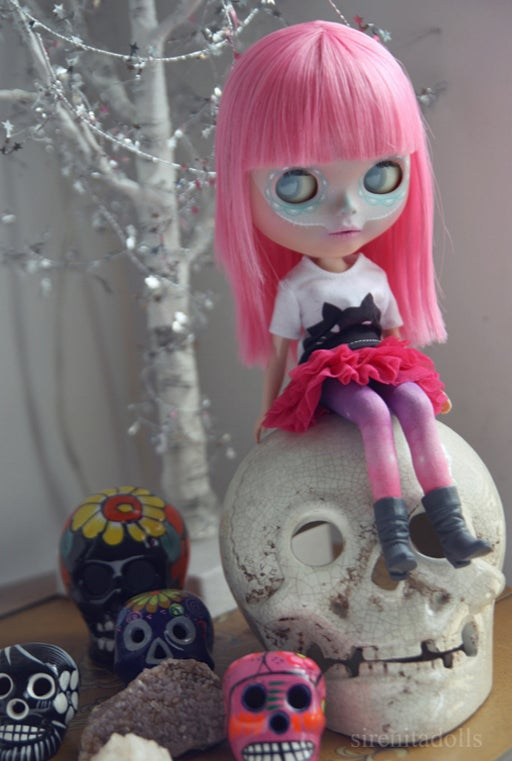 Image of OOAK Takara Custom Blythe Doll by Sirenita Dolls: Date w/ Blythe Auction