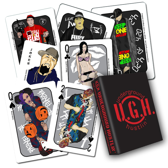 Image of THE FIRST EVER UNDERGROUND HUSTLIN PLAYING CARD DECK!