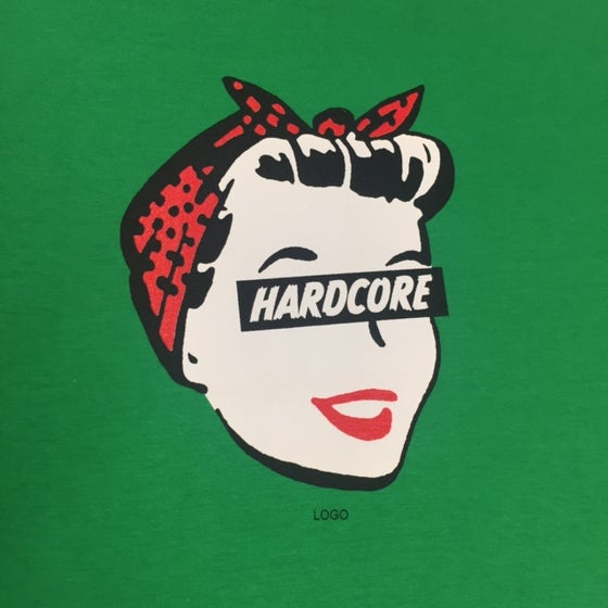 Image of Hardcore Housewife Green Ladies T-Shirt