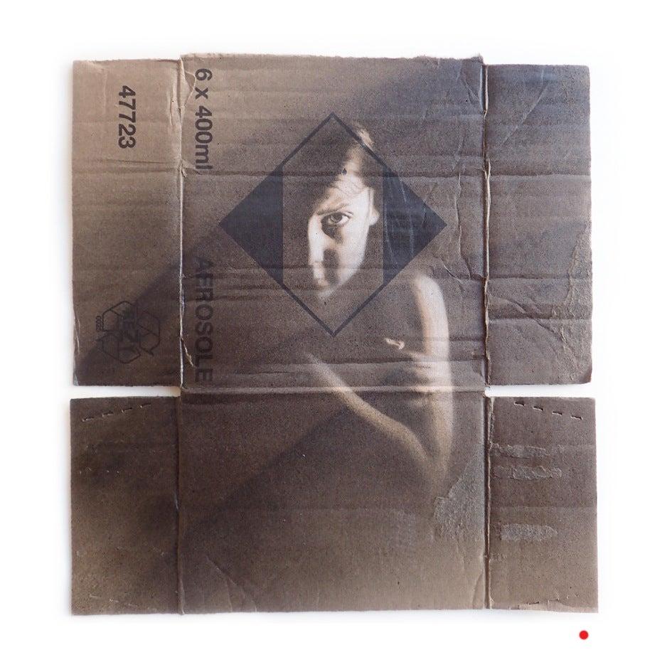 Image of belonging - sketch (reclaimed cardboard)