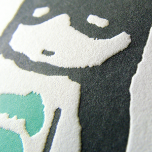 Image of Happy birthday super hero - letterpress card