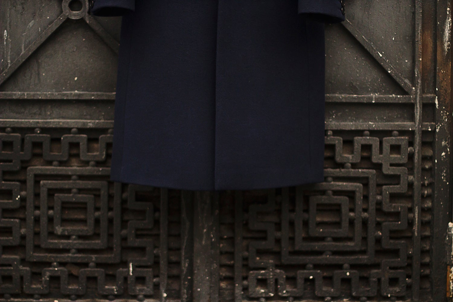 Image of LIMITED EDITION | Dark Blue Wool-Blend Coat