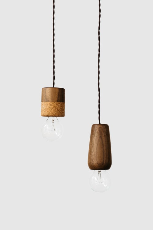 Image of Walnut Pendant Light
