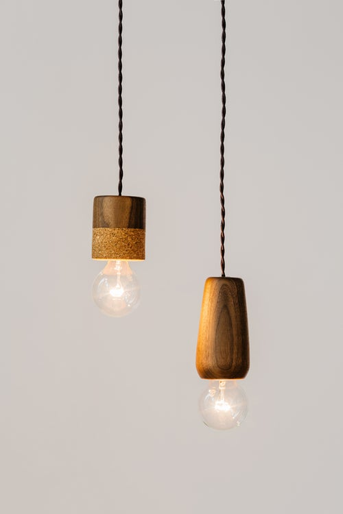 Image of Walnut Pendant Light