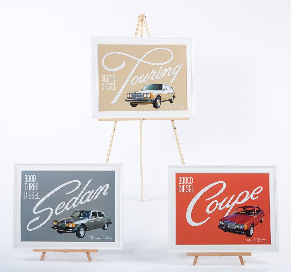 Image of Merecedes Motoring W123 Print Series