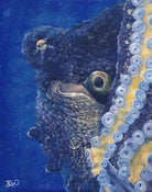 Image of Day octopus - Original painting