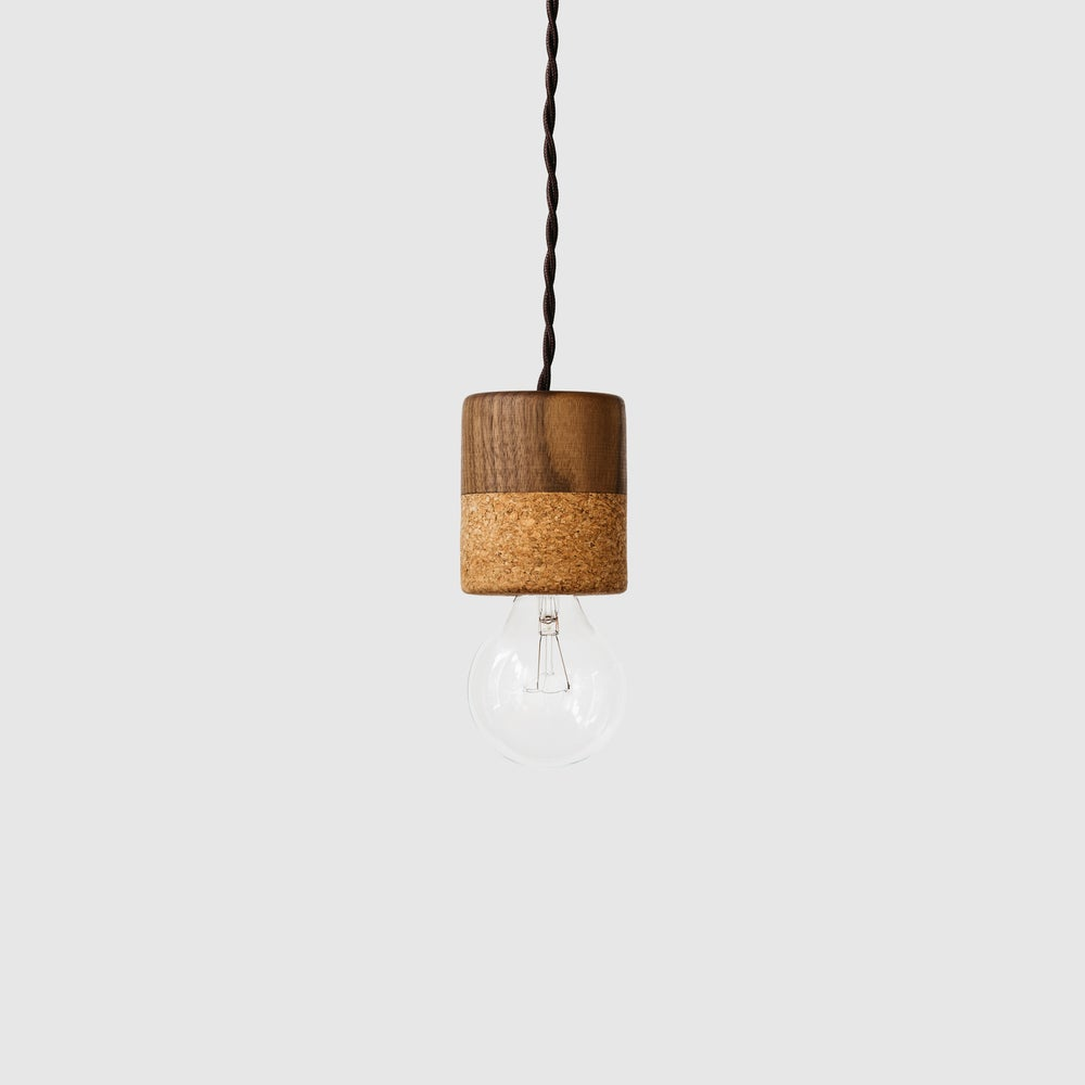 Image of Cork + Walnut Pendant Lights