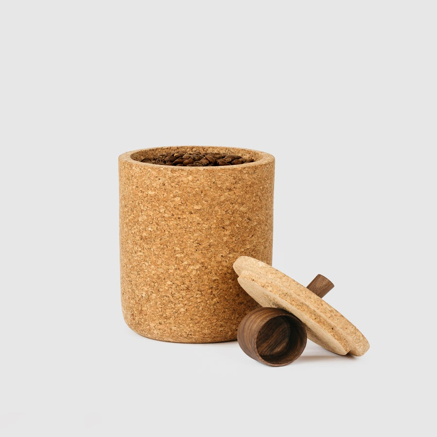 Image of Cork Coffee Canister + Scoop