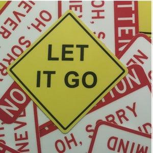 "Image of Let It Go Mini-Sticker 2""x2"""