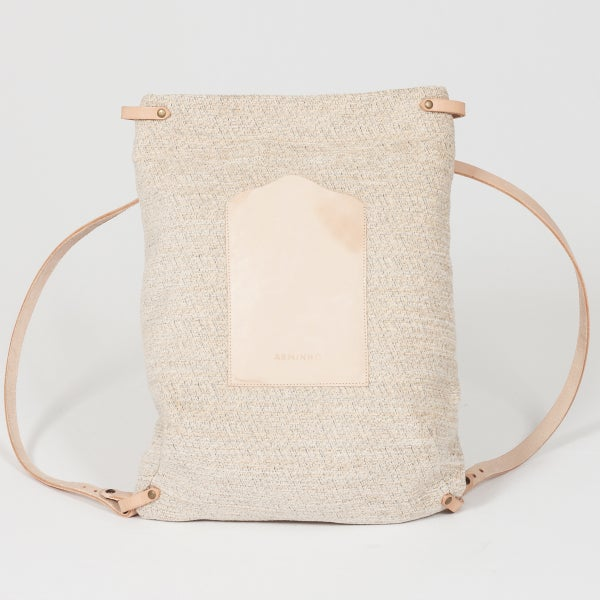 Rectangular Backpack - beige pattern  - arminho