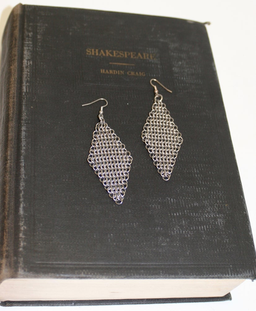 Image of Chained Armour~ European Diamond earrings