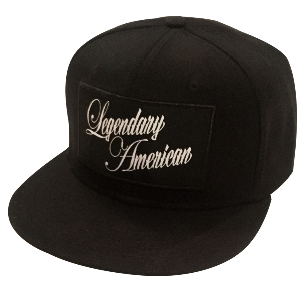 Image of Legendary American Script 3 patch flexfit hat