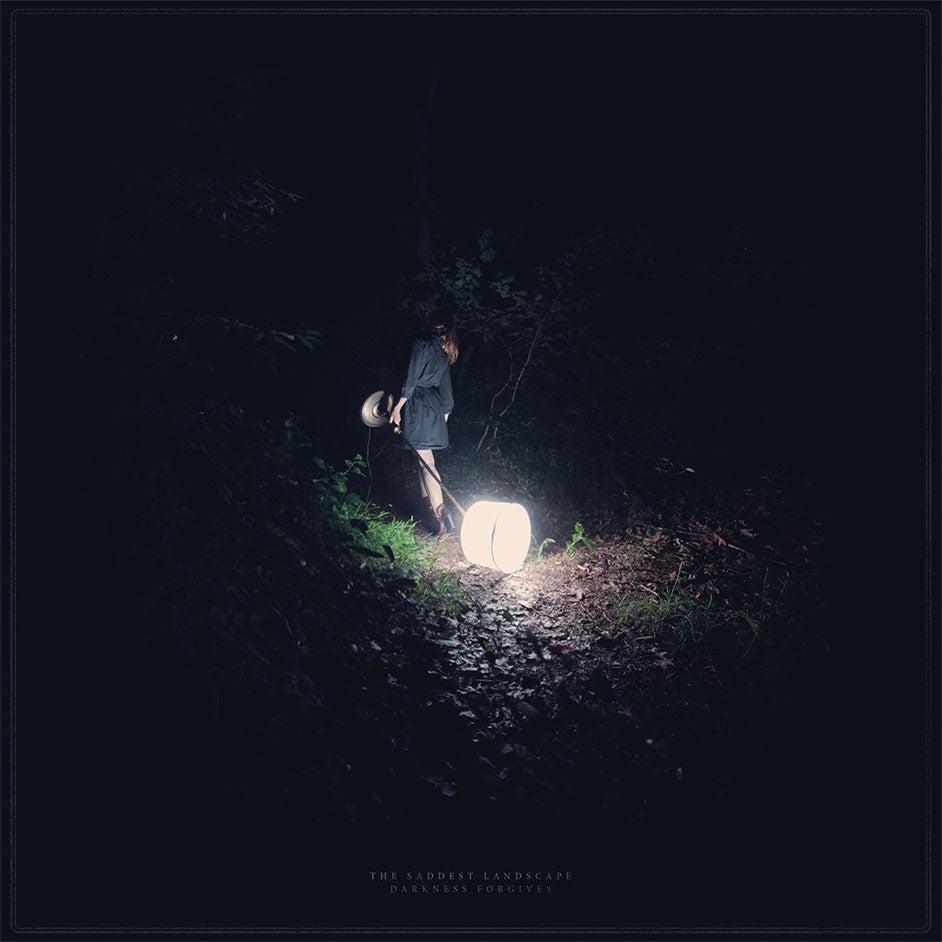 Image of DARKNESS FORGIVES  BLUE/BLACK LP