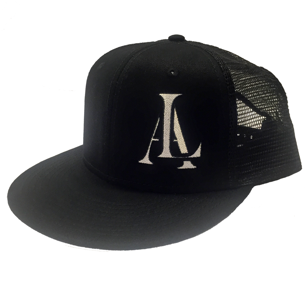 Image of Legendary American LA logo trucker hat - white