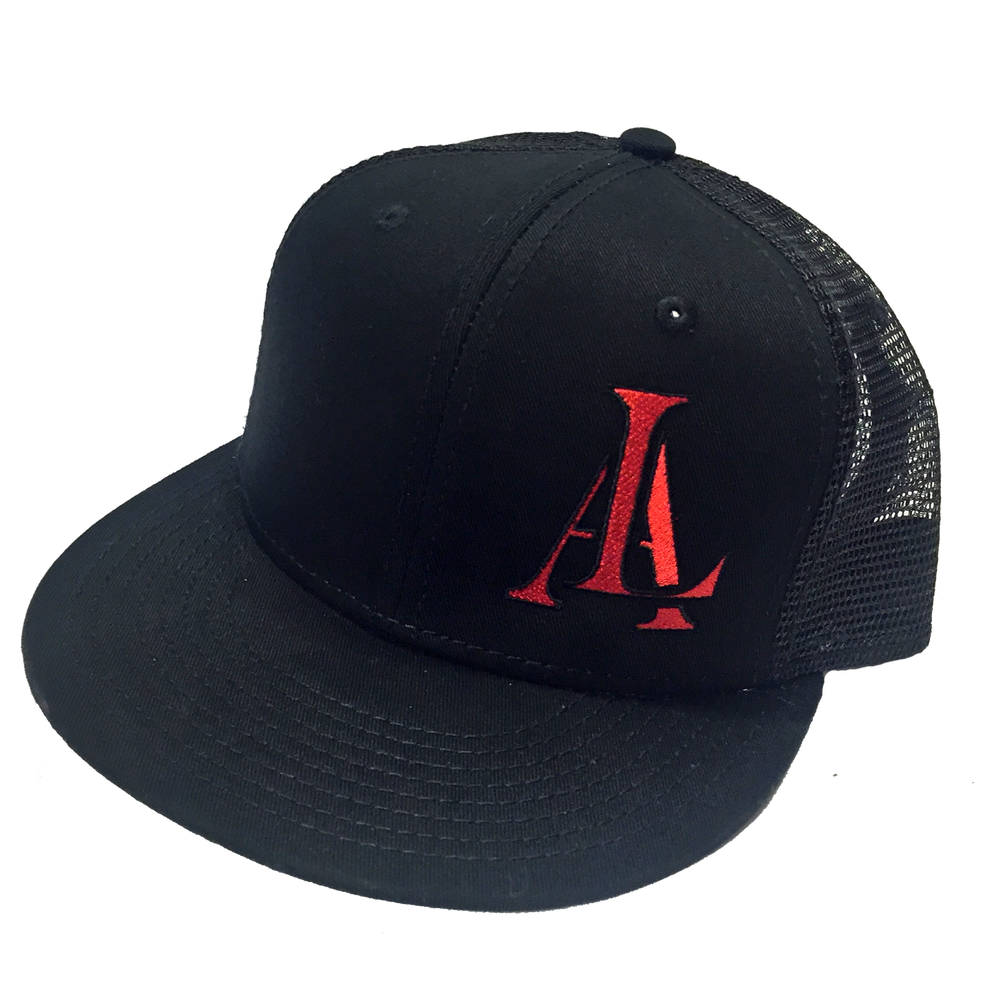 Image of Legendary American LA logo trucker hat - red