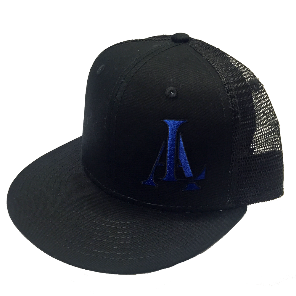 Image of Legendary American LA logo trucker hat - blue