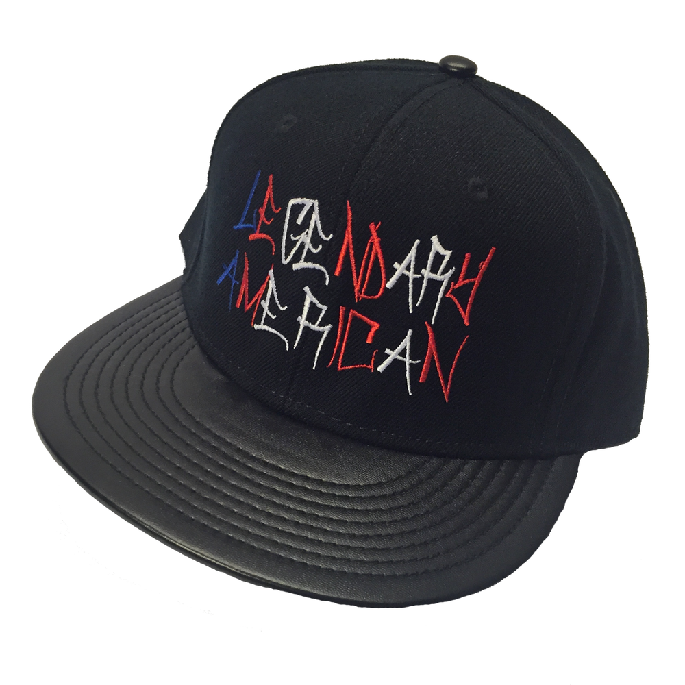 Image of Legendary American Graffiti leather bill hat