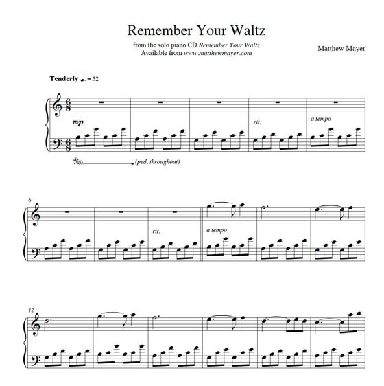 Image of NEW - Remember Your Waltz (Beginner Level)