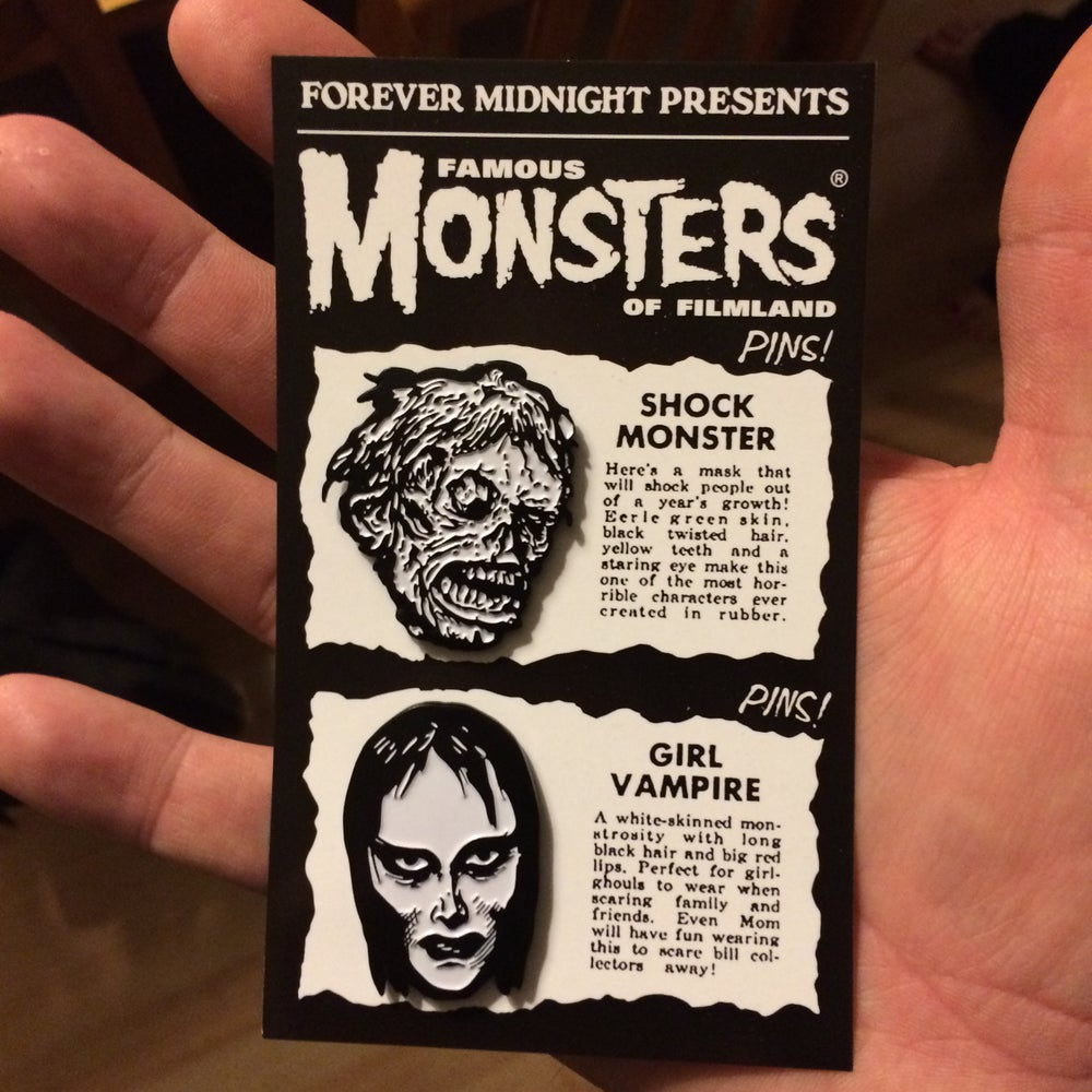 Image of Famous Monsters Pin Set