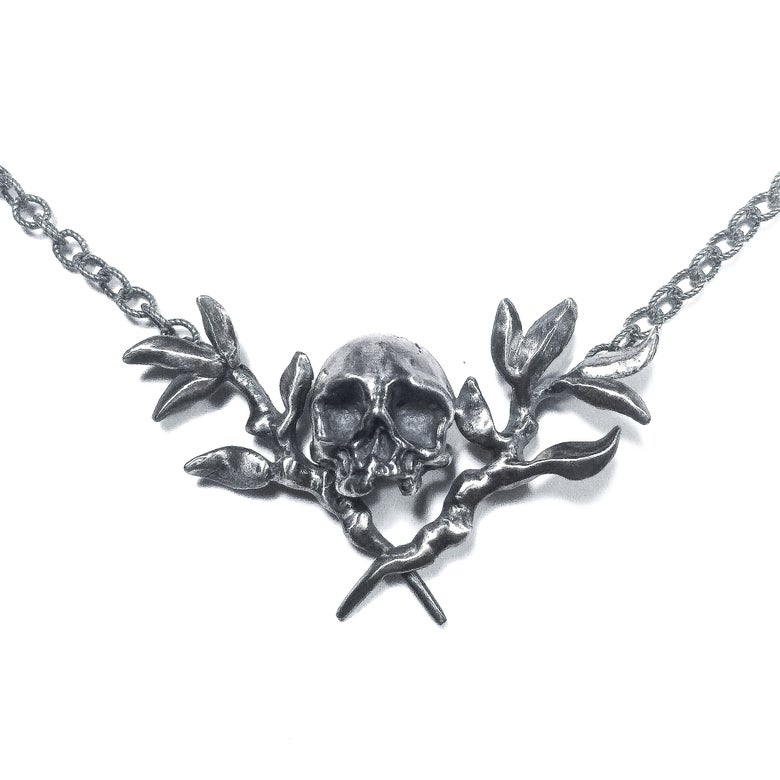 Image of Memento Mori necklace in sterling silver