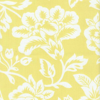 Fabric Freak Ff Sunny Yellow And White Floral Outdoor Fabric