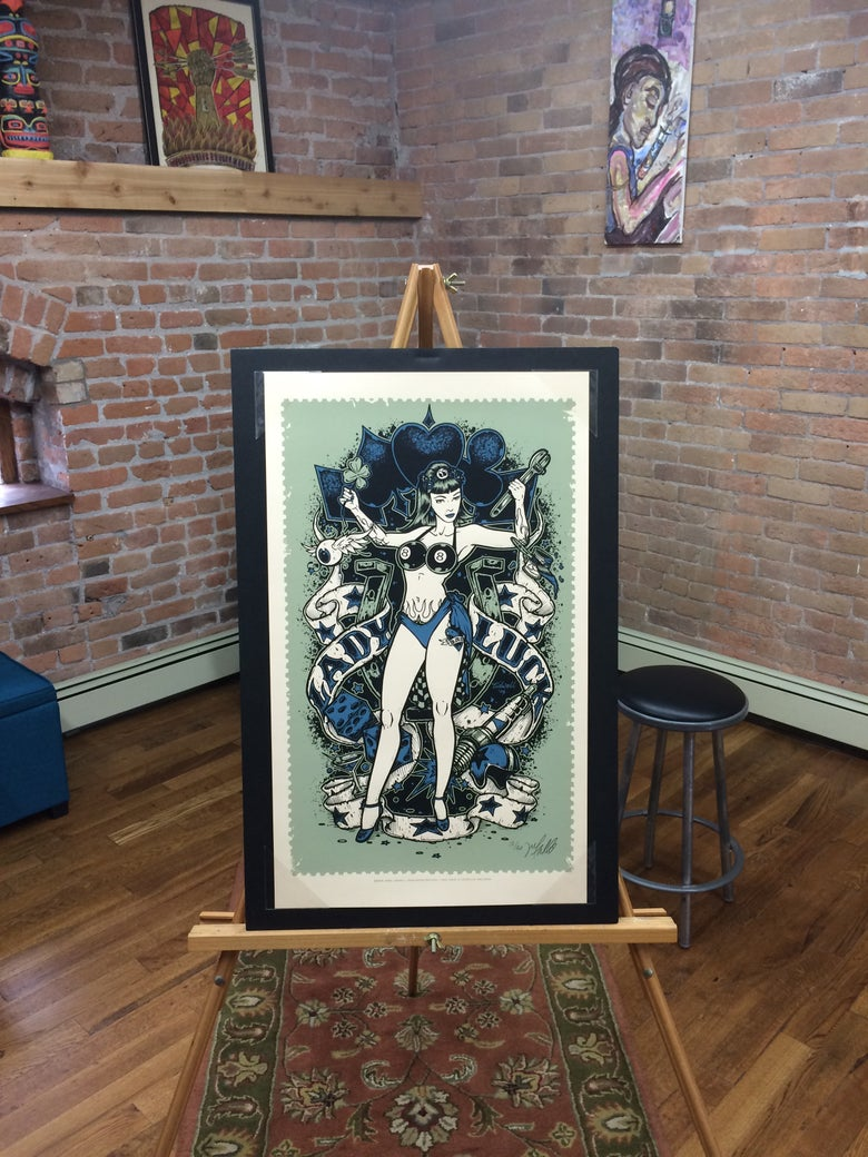 Image of Lady Luck • Blue Art Print (Variant)