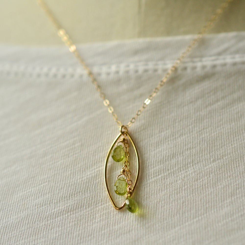 Image of Peridot marquise necklace
