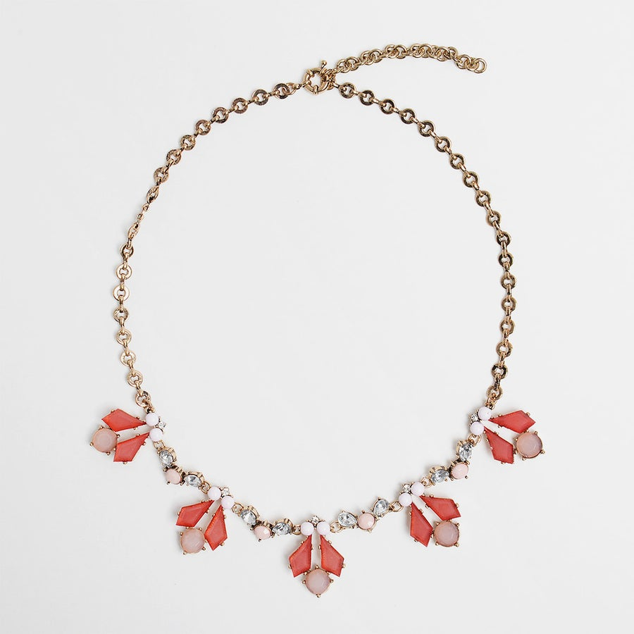 Image of Pretty in Pink Fleur Necklace